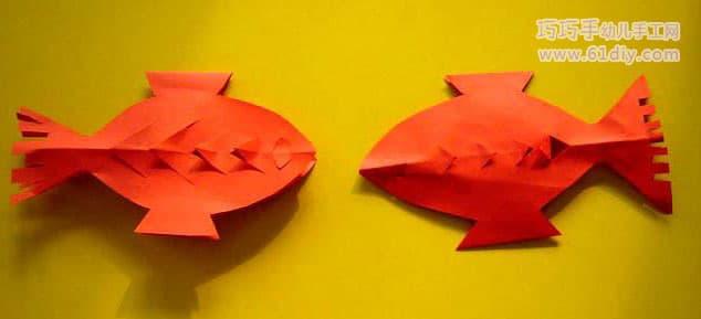 61diy巧巧手幼儿手工网(my61diy)   猜你喜欢:动物剪纸鱼的手工动物鱼