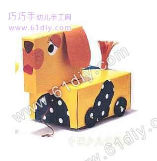 纸盒小狗手工制作