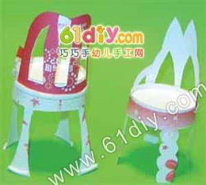 纸杯小椅子手工制作图解_巧巧手幼儿手工网