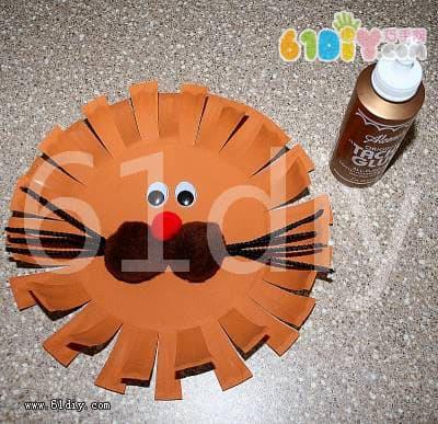 纸盘狮子制作图解