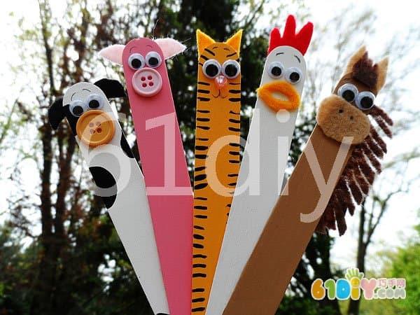 雪糕棒手工——农场的动物