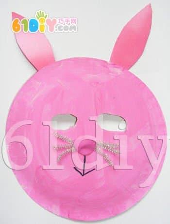 纸盘兔子面具手工_巧巧手幼儿手工网