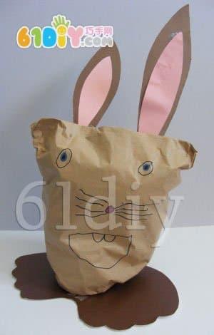 纸袋兔子手工制作