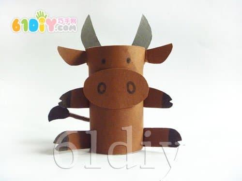 废物利用:卷纸芯制作小牛