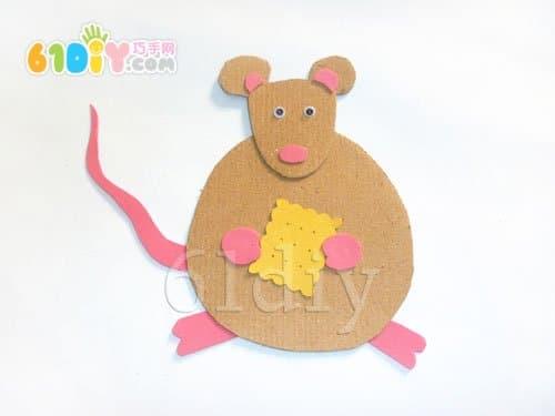 吃饼干的小老鼠手工制作_巧巧手幼儿手工网