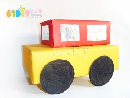 怎样用纸盒制作小汽车