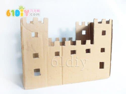 废纸盒手工制作城堡