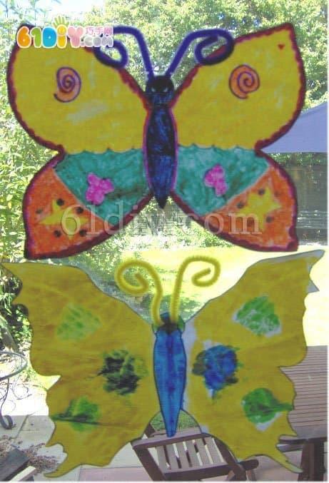 幼儿园春天涂鸦——七彩蝴蝶