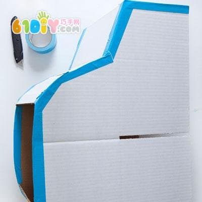 如何用纸箱做汽车