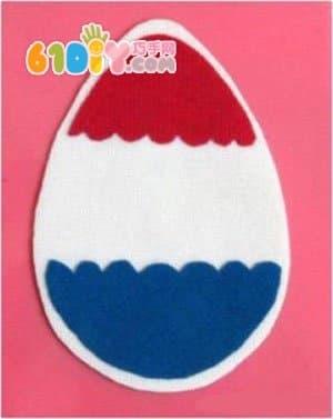 幼儿园复活节彩蛋贴画手工