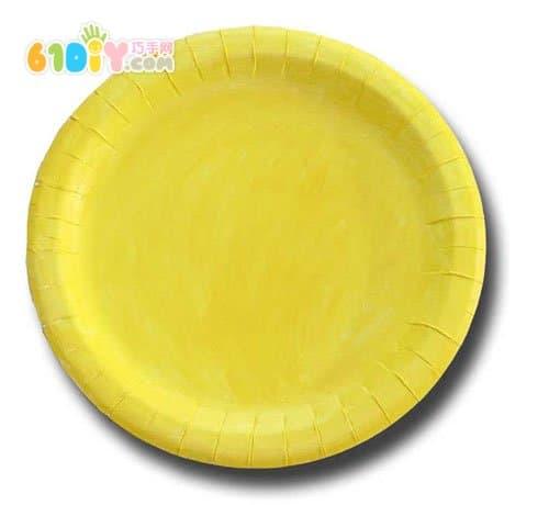 手工材料:纸盘,颜料,胶水,五谷杂粮等