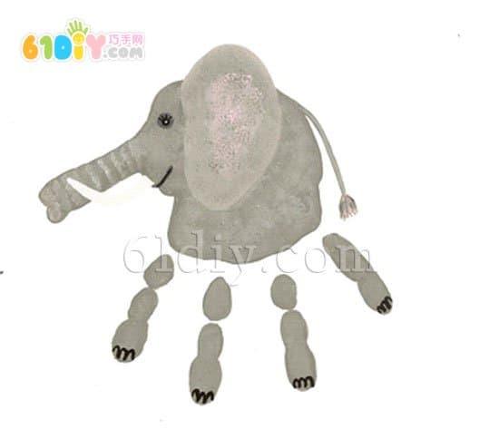 创意手印画(大象)_巧巧手幼儿手工网