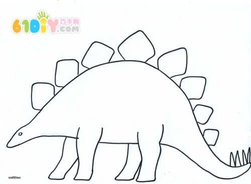 恐龙画画步骤图片