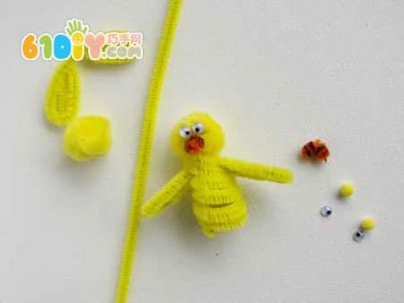 毛根手工制作复活节的小动物