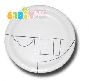 儿童手工制作纸盘恐龙