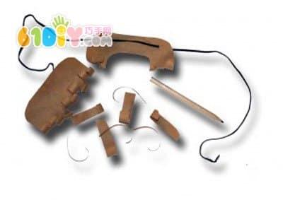 怎样用纸手工制作胡子演出道具