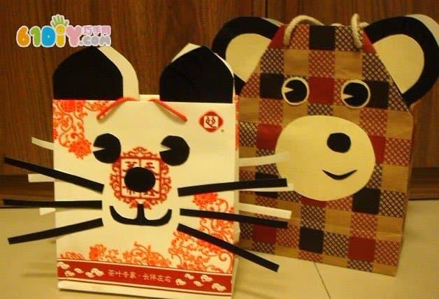 儿童手工制作纸袋动物
