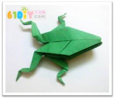 青蛙折纸步骤_巧巧手幼儿手工网