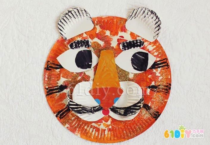 儿童手工制作纸盘老虎