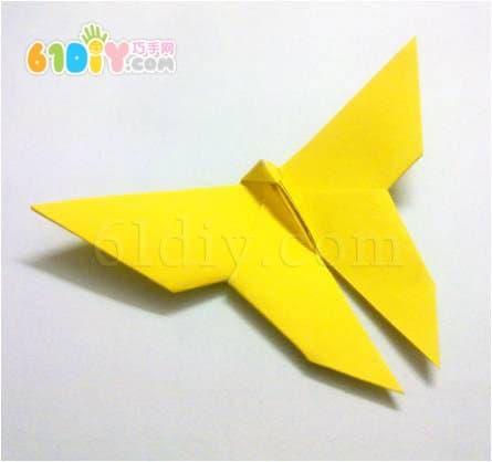 立体蝴蝶折纸图解_巧巧手幼儿手工网