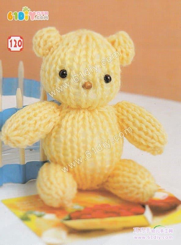 怎样编织针织熊