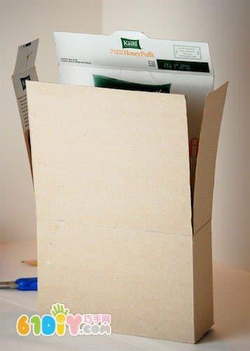 纸盒手工制作小房子