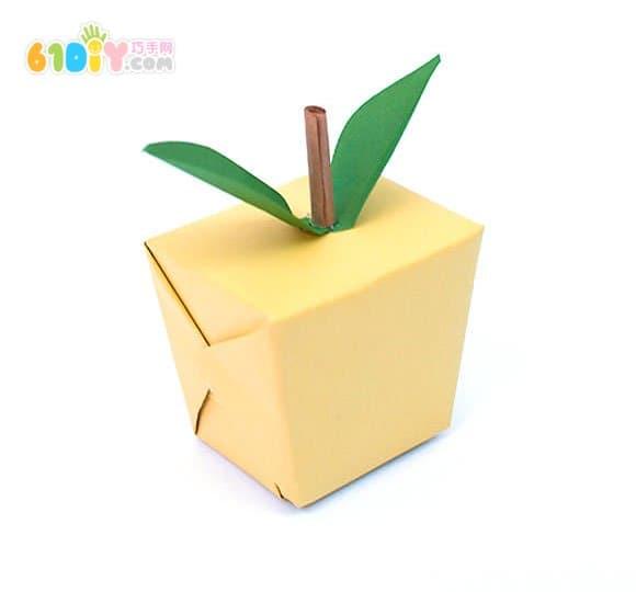 废纸盒手工苹果