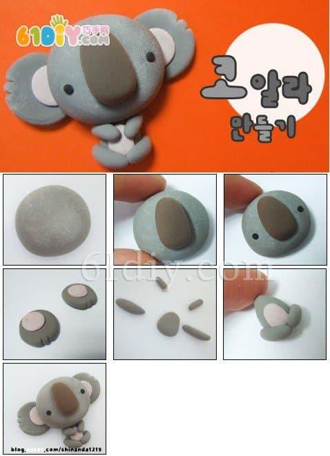 61diy巧巧手幼儿手工网(my61diy) 猜你喜欢:粘土教程动物彩泥树袋熊