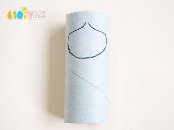 儿童手工:卷纸筒diy制作少数民族娃娃_巧巧手幼儿手工