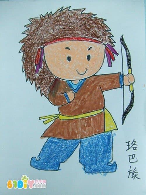 小班幼儿简笔画教程_56个民族卡通简笔画(彩色版)(3)_巧巧手幼儿手工网