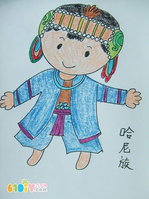 56个民族卡通简笔画(彩色版)(2)图片