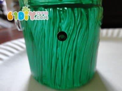 瓶子手工制作万圣节的绿人怪