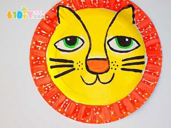 万圣节手工制作狮子面具
