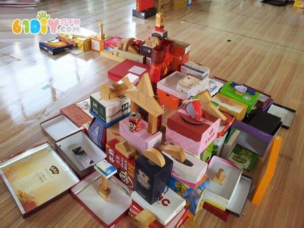 纸盒房子手工作品