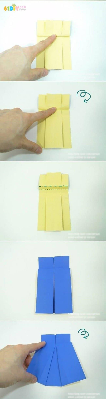 裙子折纸_巧巧手幼儿手工网