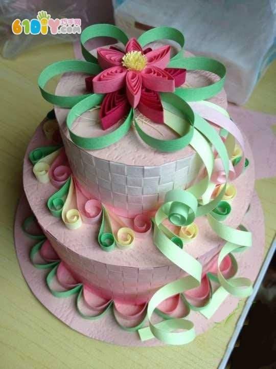 衍纸蛋糕制作教程_巧巧手幼儿手工网