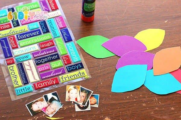 儿童手工教程 立体家庭树制作图解