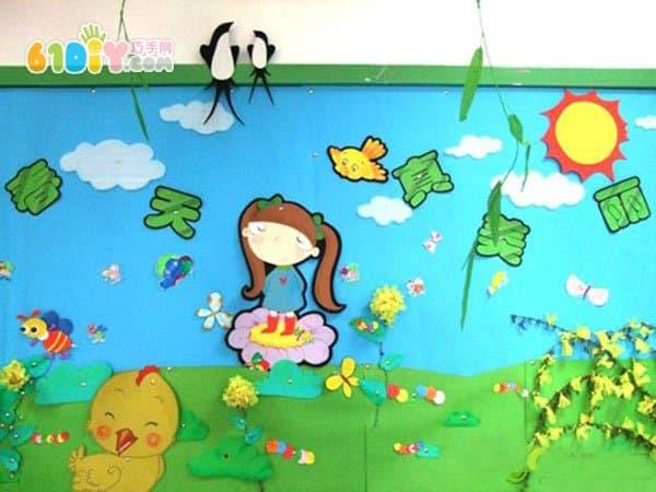 幼儿园主题墙 春天真美丽