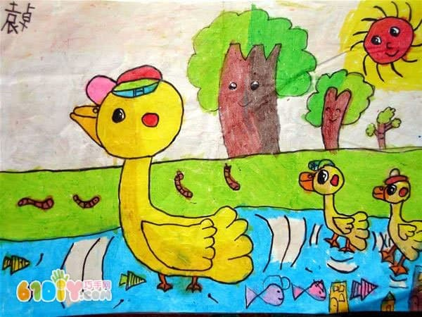 关于春天的儿童画作品
