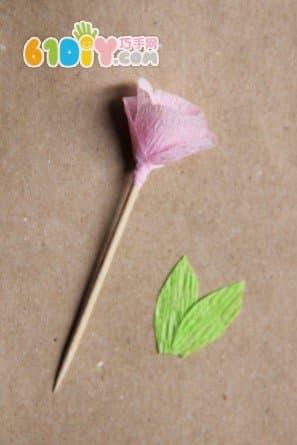皱纹纸玫瑰装饰花制作图解