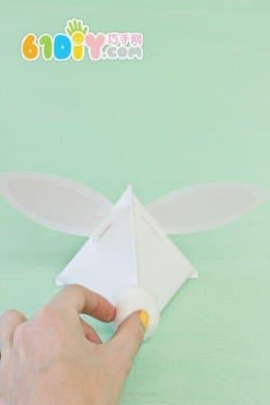 手工制作立体三角形兔子