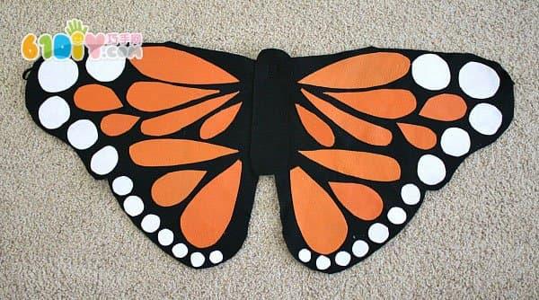 怎样制作蝴蝶翅膀道具_巧巧手幼儿手工网