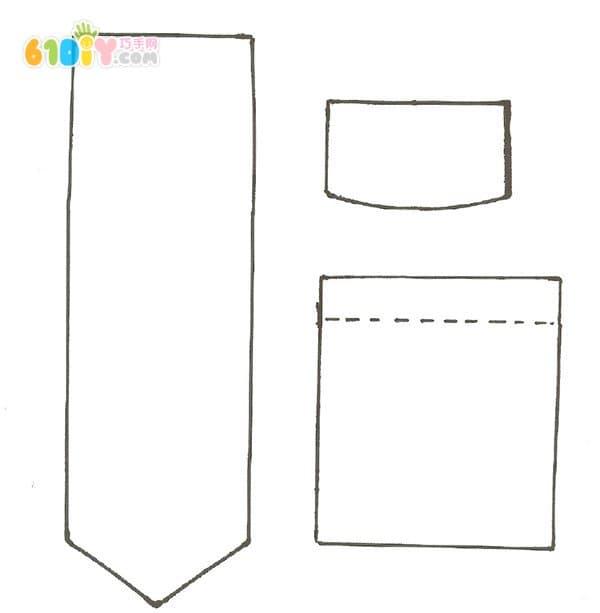 父亲节制作 简单的衬衫领带卡_巧巧手幼儿手工网