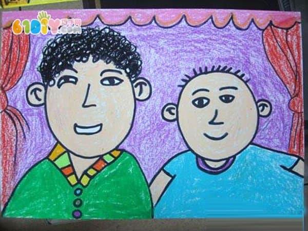 父亲节儿童画
