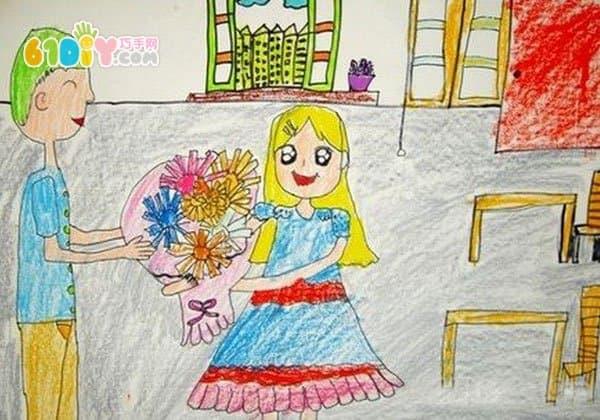 父亲节儿童画(2)