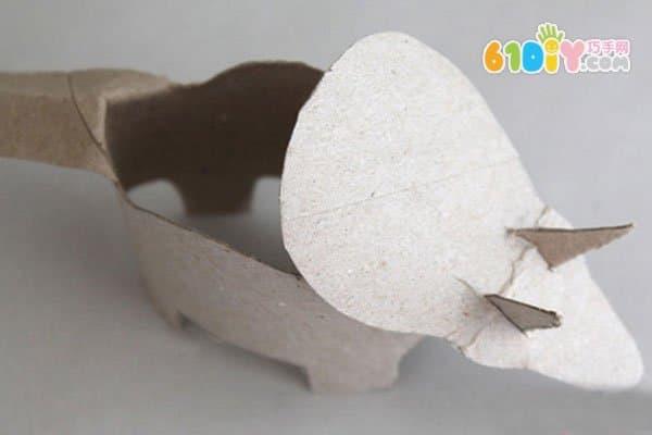 儿童手工教程 卷纸筒diy制作恐龙