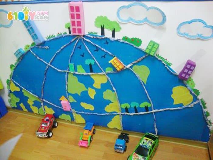 幼儿园区角布置编织区