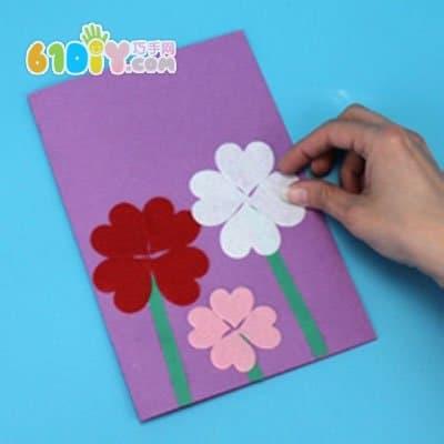 教师节贺卡手工制作 美丽的花朵卡片_巧巧手幼儿手工网