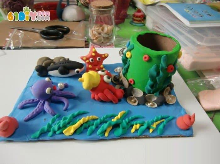 61diy巧巧手幼儿手工网(my61diy) 猜你喜欢:海底世界粘土作品