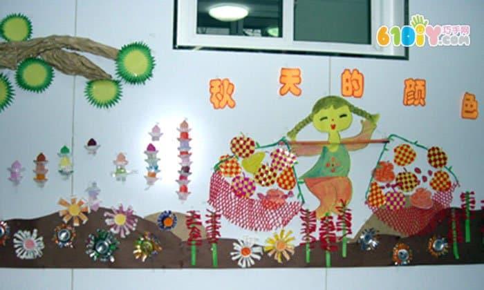幼儿园秋天主题墙 丰收的季节图片